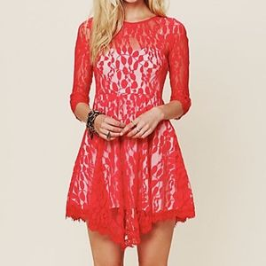 Free People | Red Lace Dress